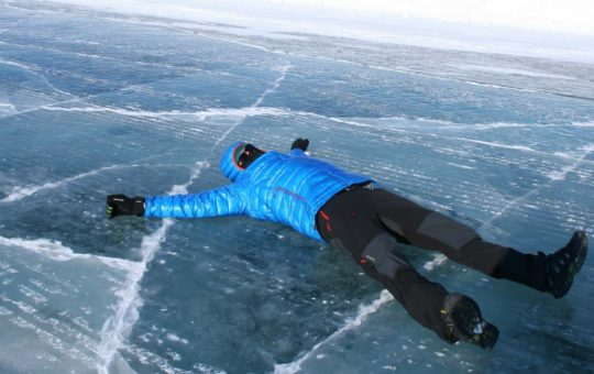 Die Iceroad an den arktischen Ozean