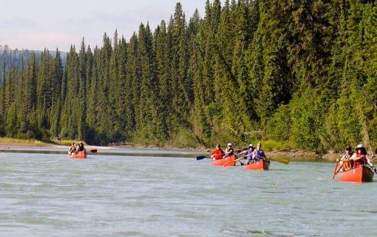 Abenteuer auf dem Athabasca River