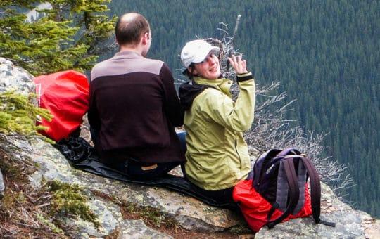 Aktiv in den kanadischen Rockies