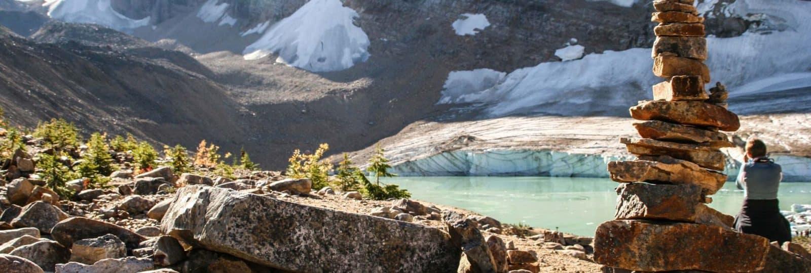 Wanderpfade in den Bergen Westkanadas