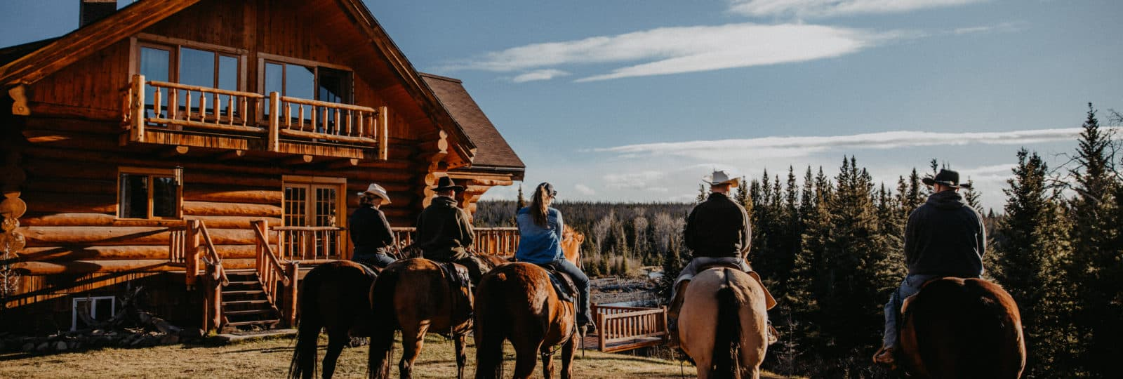 Pferderanch westlich von Williams Lake in Westkanada