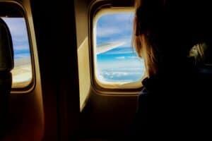 Flugzeug Sitzplatz - Werbebild