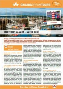 Nova Scotia Reise mit Canada Dream Tours